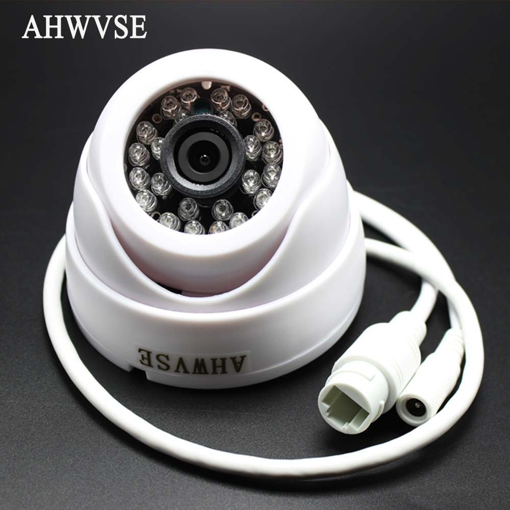 H.265 POE 2MP 4MP IP Camera CCTV 1080P  HD 720P H.264 Network Dome Indoor Camera 2.8mm Wide Lens P2P Onvif XMEYE App AI Camera
