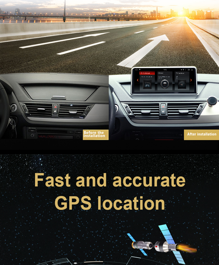 4 Koason Android7.1 2+32G Car Stereo Audio touchscreen Multimedia Player GPS Navigation system for BMW X1 E84 2009-2015 CIC