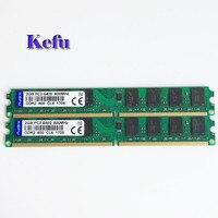 2 قطع 2x2 جيجابايت 800 ميجا هرتز pc2-6400 ddr2-800 dimm 240pin الذاكرة ram desktop فقط ل amd اللوحة