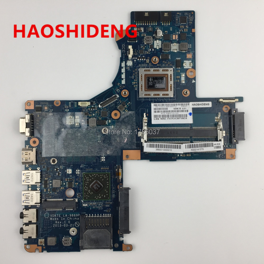for Toshiba Satellite S40DT L40D L45DT LA-9869P series laptop motherboard .All functions fully Tested ! free shipping for toshiba satellite p700 p740 p745 laptop motherboard k000123400 la 7101p all functions 100% fully tested