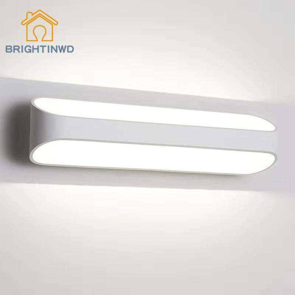 BRIGHTINWD LED Aluminum Sconce Wall Lamp Indoor Creative Bedroom Light Simple Modern Bedside Study Room Stairway Gateway Home LED Indoor Wall Lamps     - title=