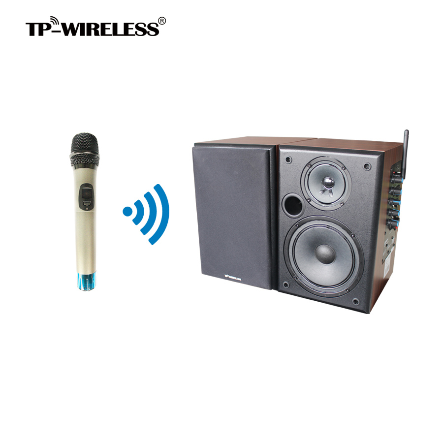 TP-WIRELESS 2.4GHz Wireless Classroom Speaker System Wireless Clip Microphone and Speaker for Church/Conference Room
