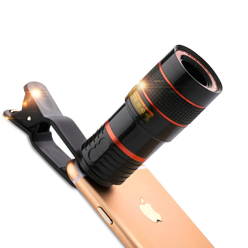8x Zoom Optical Phone Telescope Portable Mobile Phone Telephoto Camera Lens and Clip for iPhone Samsung Huawei LG Sony Etc