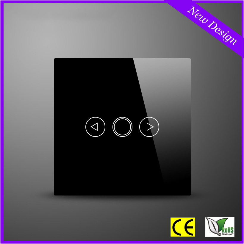 ₩Estándar de la UE lusury cristal Touch panel dimmer interruptor de ...
