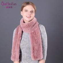 long 170 cm real fur scarf women Men Rex rabbit Natural Rabbit Fur Scarves warm muffler
