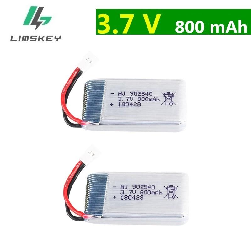 3.7V 800mAh Battery For Syma X5 X5C X5SC X5SW M68 X5HC X5HW X400 X800 Four-axis Model Aircraft 3.7V Lipo Battery 902540 2pcs/lot