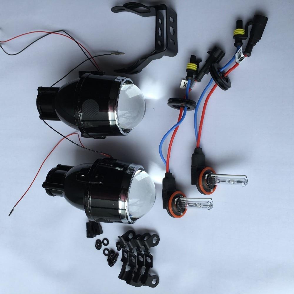 12V 35W 3 inch bi xenon fog lamp projector lens hi low beam H11 bixenon projector