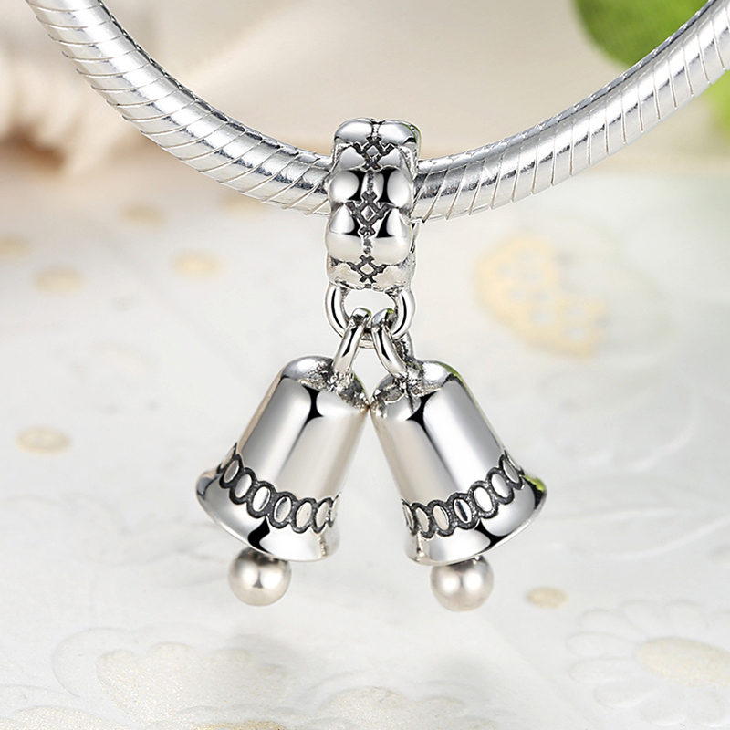 a19385751 925 Sterling Silver Christmas bell pendant charm Fits Pandora Bracelet  Necklace-in Charms from Jewelry & Accessories on Aliexpress.com | Alibaba  Group