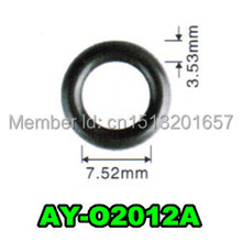 free shipping 1000pieces hot sale viton orings fuel injector repair kit rubber seals  for japan cars (AY-O2012,7.52*3.53mm)