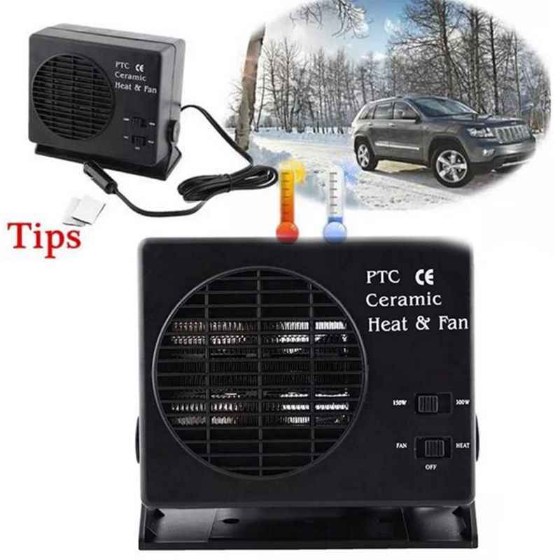 Автомобильный портативный 2 в 1 Электрический вентилятор и обогреватель, 1 шт., 12 В постоянного тока, 300 Вт, Demister, быстрая скорость нагрева, автомобильные аксессуары