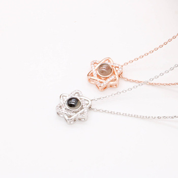 Collier femmes en or Rose  3
