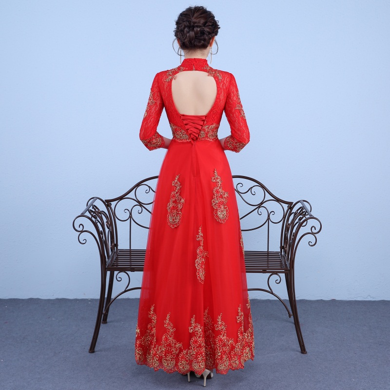 New Elegant Evening Dresses Bride Gown Glamorous keyhole Back High Neck Ball Prom Party Homecoming/Graduation Formal Dress