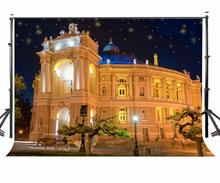 150x210cm Night Scenery Photography Backdrop Romantic European Architecture Background Studio Props