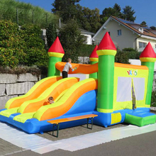 цена на Giant Kids Play Toys Inflatable Bounce House Double Slides Inflatable Trampoline Child Best Outdoor Inflatable Games Party Toys