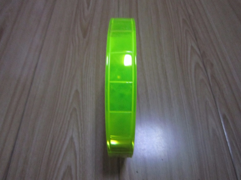 Width 2.5cm PVC Reflective Material , Luminous Tape, Dance Costumes Reflective Material .Safety Warning Belt.