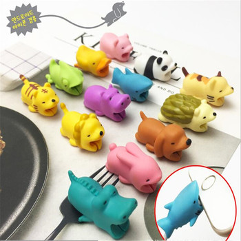 Single Sale Creative Funny Cable Bite Protector For IPhone Chompers Winder Cute Animals Model Funny Toys protectores de cargador iphone