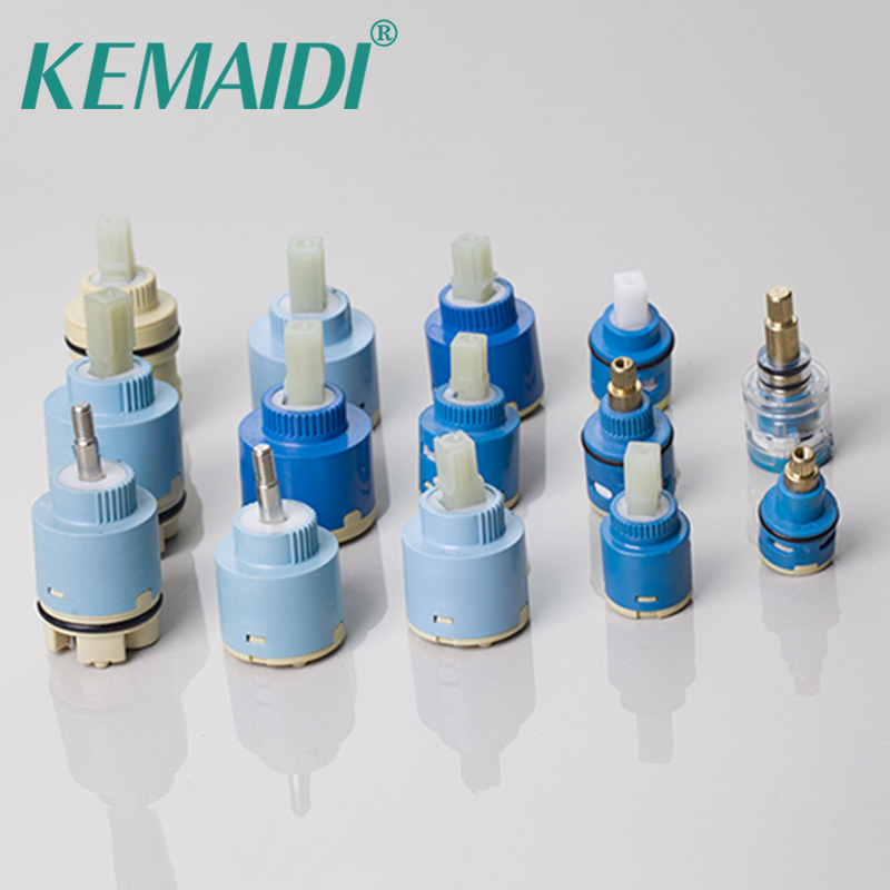 KEMAIDI Unique Design Brass Lever Faucets  Cartridge Mixers & Taps Valve Ceramic Plate Spool Mixer Faucet Accessories