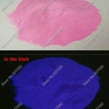50 г/пакет x фиолетовый цвет световой фосфористая порошка пыли светится в темноте фотолюминесцентный пигмент пудра для полировки ногтей, Нейл-арт