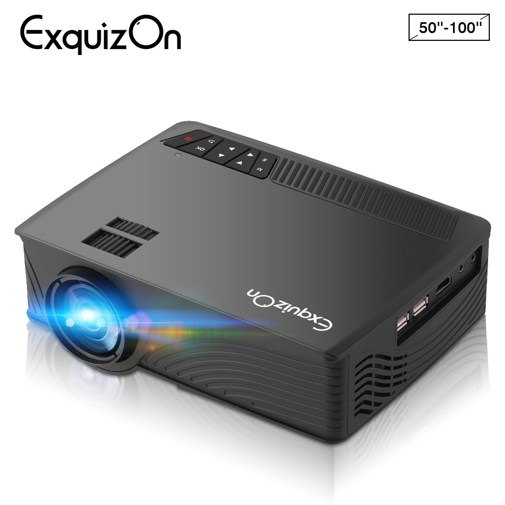 Exquizon LED GP12 Projector Video Home Projector with HDMI Input Support 1080P for Cinema Theater TV Laptop Game SD iPad iPhone mini projecteur led iphone