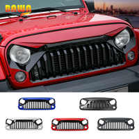 BAWA Racing Grills for Jeep Wrangler JK 2007-2017 ABS Black White Red Blue Front Grille Grills Accessories for Jeep Wrangler jk