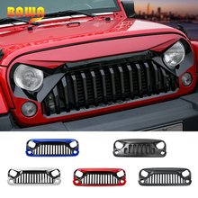 BAWA Racing Grills for Jeep Wrangler JK 2007-2017 Front Grille Accessories Car Exterior