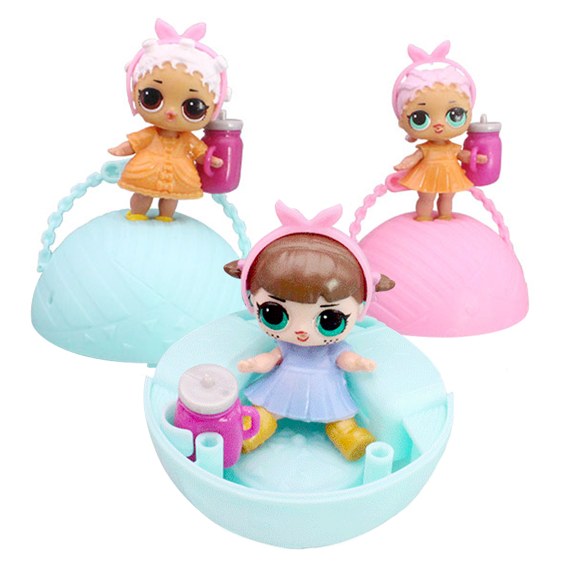 Funny Toy 10cm LOL Doll Random Dress Up Baby Tear Open Color Change Egg Dolls serie 1 in the Balls Toys For Girls figurines