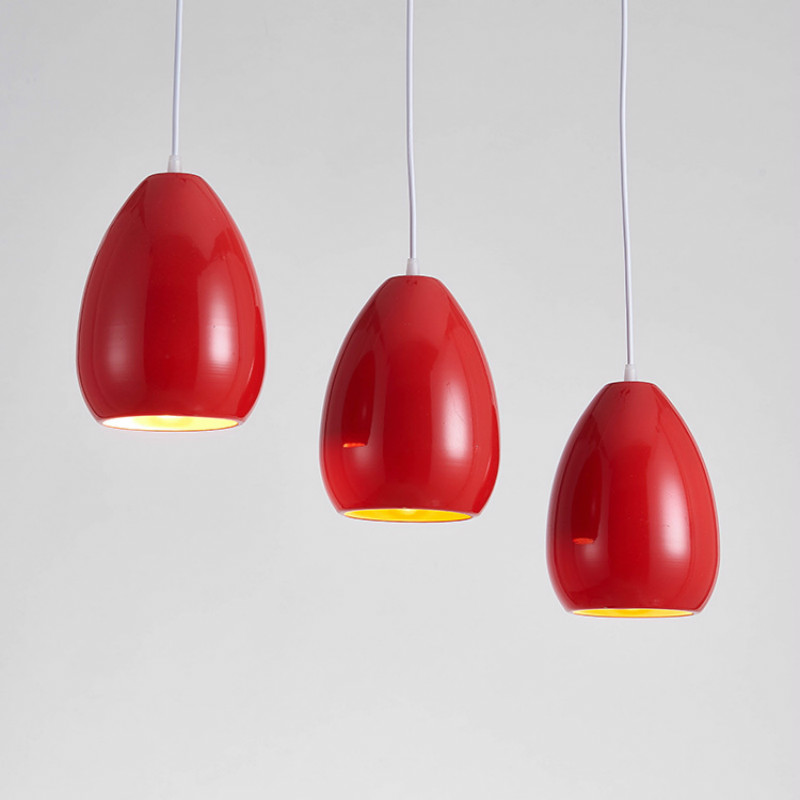 Vintage Brief Creative Egg Design 3 Colors Aluminum Iron Led E27 Pendant Light For Dining Room Bedside Bar Deco 1/3 Heads 2264