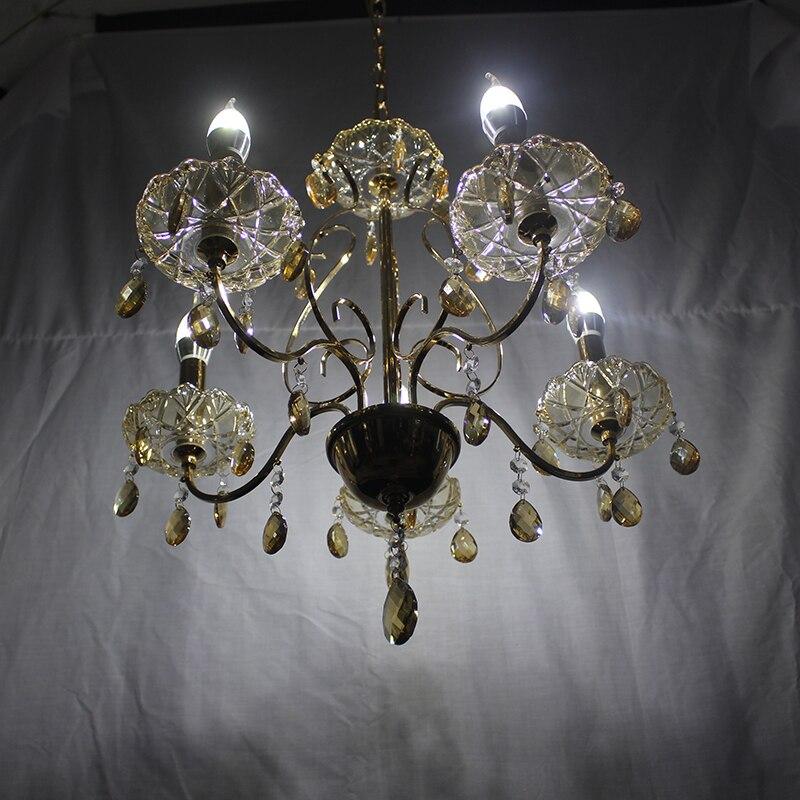 Lustre industriel moderne cristal E27 LED 5 têtes lustre pour salon salle à manger chambre allée étude hôtel restaurant