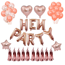 Rose Gold Hen Party letter balloon Bachelorette Decoration Willy Balloon Night
