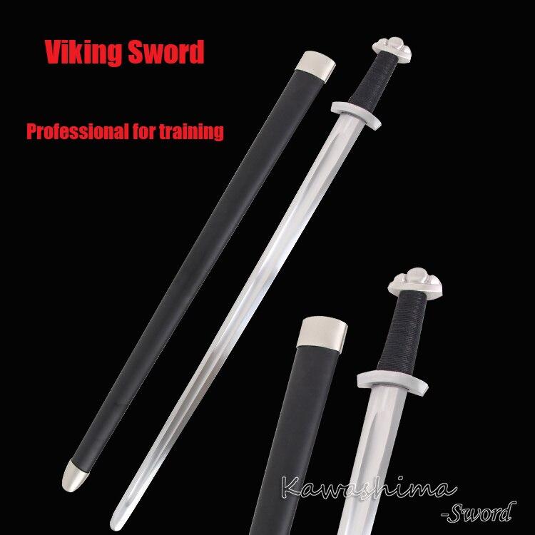 Épée Viking Bataille Prêt Ressort En acier De Lame, Soie enfichable, Montage Facile Prêt Pour La Bataille-Européenne Épée Médiévale de Protection En Acier Inoxydable