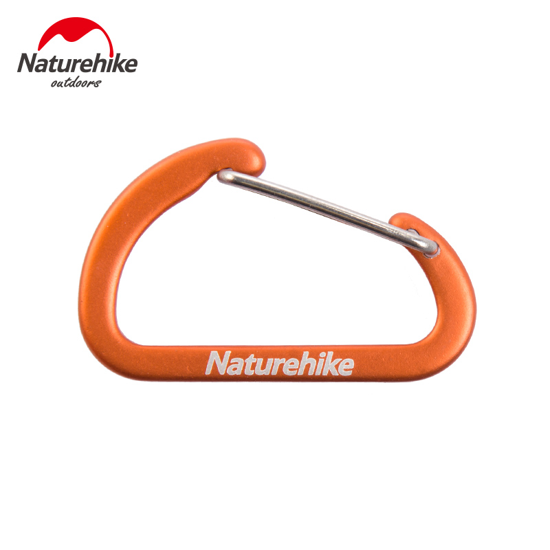 Naturehike Hook Outdoor Accessories High Quality Hook Fast Suspension D Type Camping Carabiner 4cm Aluminum Hook