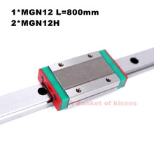 Kossel Mini for 12mm Linear Guide1* MGN12 L 800mm linear rail +2* MGN12H Long linear carriage for CNC X Y Z Axis 3d printer part