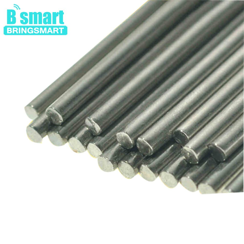 Bringsmart 20pcs HSS Steel <font><b>Rod</b></font> Axle for DIY Connecting <font><b>Rod</b></font> Length 100mm Diameter- 1mm, 2mm, <font><b>3mm</b></font>, 4mm, 5mm Model Toys Axle Shaft image