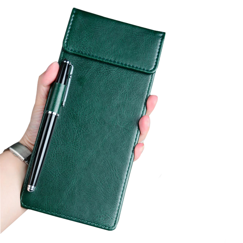Restaurant Hotel Office Cashier Holder Writting Pad, Cheque Holder Folder With Pen Clip