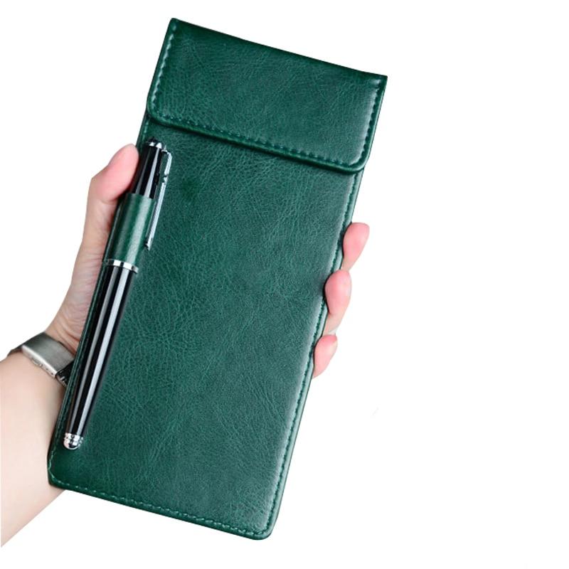 Restaurant Hotel Office Cashier Holder Writting Pad, Cheque Holder Folder With Pen Clip