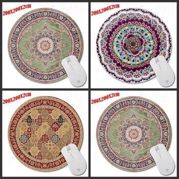 Piękny perski dywan 200*200*2mm najlepiej sprzedających się dostosować antypoślizgowe gumowe 3D drukowanie do gier trwała Notebook okrągła podkładka pod mysz