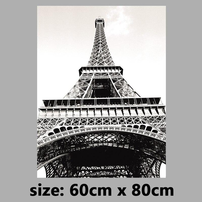 Eiffel Tower Wall Art big size retro black and white decoration paris eiffel tower wall