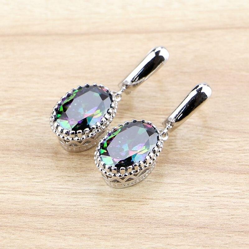 Fire Opal 10X14mm Crown 925 Sterling Silver Dangle Earrings NEW