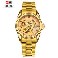 BOSCK Skeleton Mechanical Watches Mens Automatic Watch Waterproof Flying Tourbillon Watch Self Winding Horloges Mannen Dropship