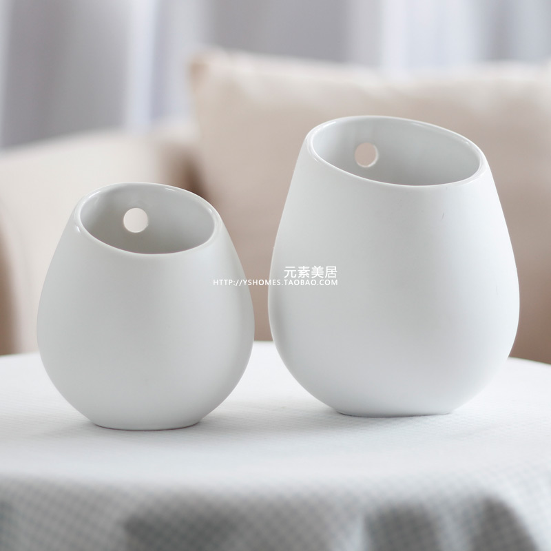 Free Shipping Top Selling Ikea Meiju Series Ceramic White Vase Wall