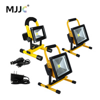 LED Work Light Rechargeable Floodlight 10W 20W 30W 50W Portable LED Flood Light Waterproof Spotlights Outdoor White Camping Lamp