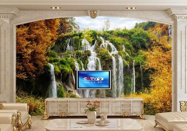 Natuur Behang Slaapkamer : Papel de parede parken watervallen herfst nationale park natuur
