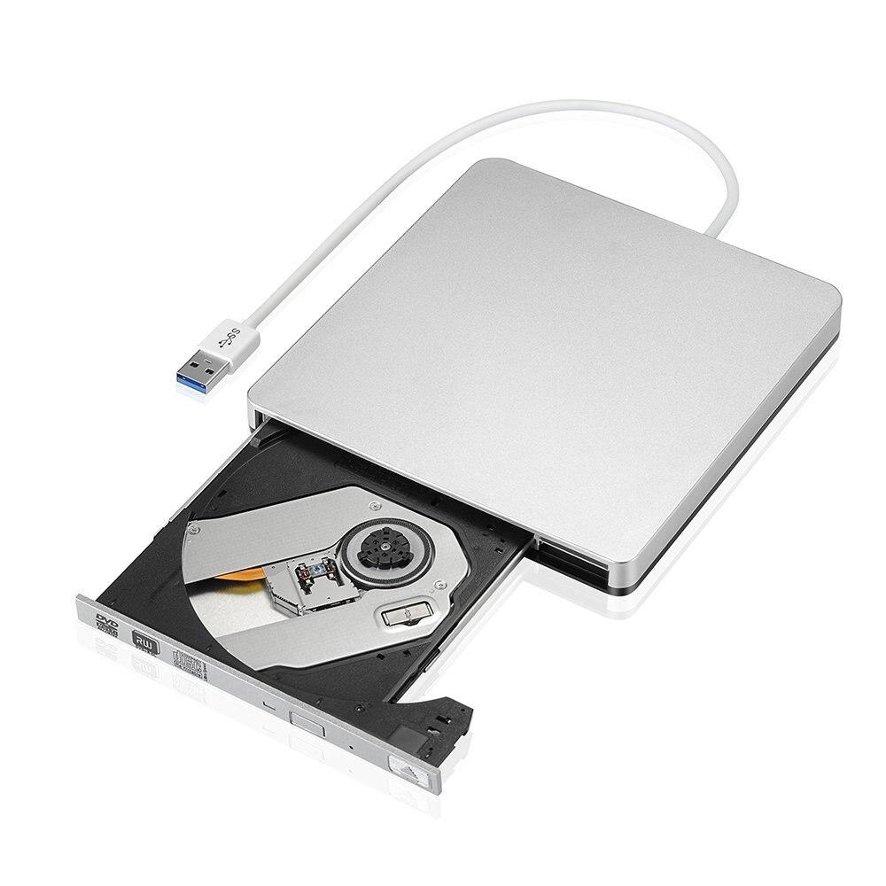 External Slim USB 3.0 DVD Burner DVD-RW VCD CD RW Drive Burner Drive Superdrive Portable for Apple Mac mac book Pro Air iMAC PC