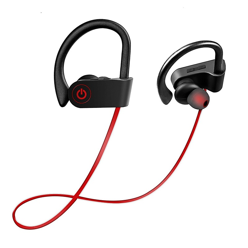 TOP Wireless headset Bluetooth 4.1 Earbuds Stereo Earphones with Mic Noise Cancelling &Lightweight Sweatproof Sports headphones