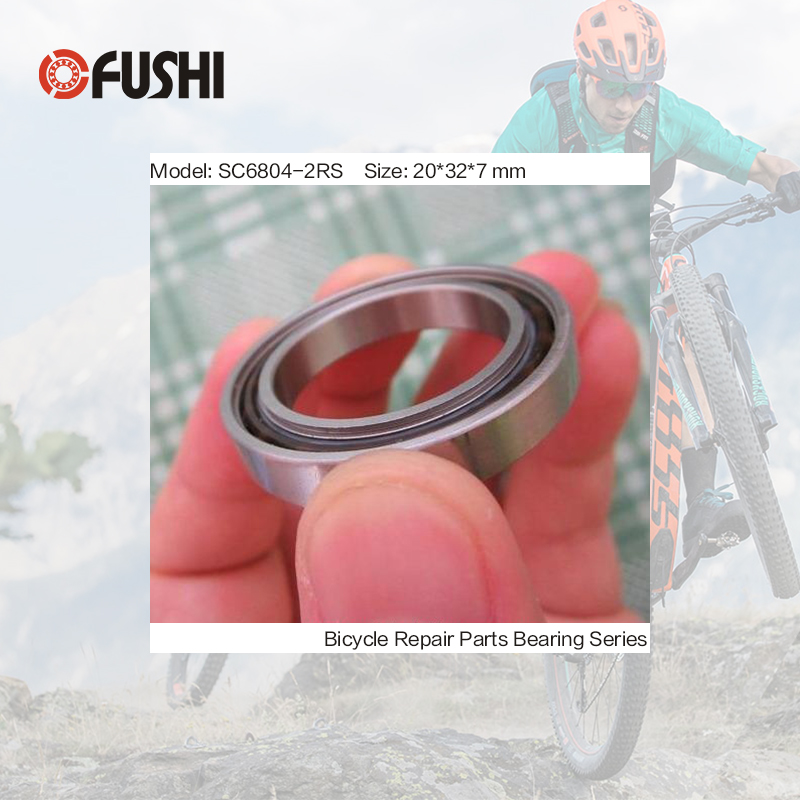 6804-2RS Stainless Bearing 20*32*7 mm ( 1 PC ) ABEC-3 6804 RS Bicycle Hub Front Rear Hubs Wheel 20 32 7 Ceramic Balls Bearings 2018 hot sale time limited steel rolamentos 6821 2rs abec 1 105x130x13mm metric thin section bearings 61821 rs 6821rs