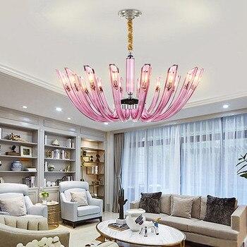 Moderne LED Kristall kronleuchter beleuchtung Nordic luxus kupfer leuchten  wohnzimmer anhänger lampen schlafzimmer hängen lichter
