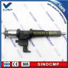 095000-5344 095000-5341 Motor 6HK1 4HK1 Common Rail Injector 8-97602485-6 8-97602485-2 Para Hitachi Escavadeira, 3 meses de garantia