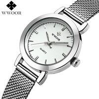 WWOOR Brand Women Watches Stainless Steel Luxury Quartz Watch Ladies Casual Small Bracelet Wrist Watch Women
