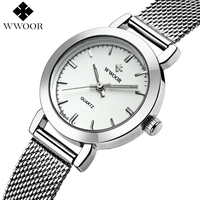 WWOOR Brand Women Watches Stainless Steel Luxury Quartz Watch Ladies Casual Small Bracelet Wrist Watch Women