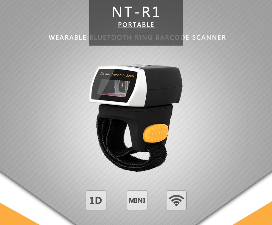 NT-R1 Wearable 1D Bluetooth Barcode Scanner AND NT-R2 Ring Bluetooth 2D QR  Barcode Reader AND NT-R3 Bluetooth CCD Scanner NETUM